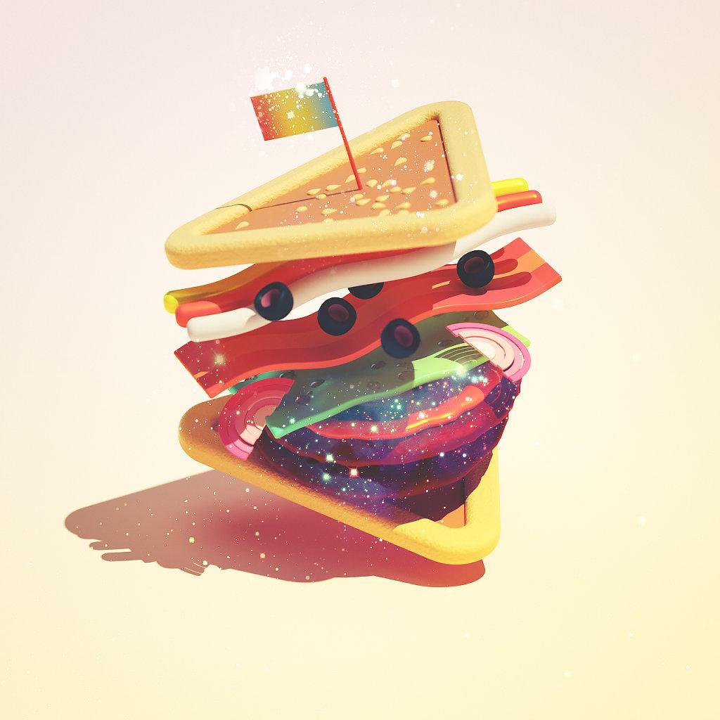 Saturn Shuffle Sandwich