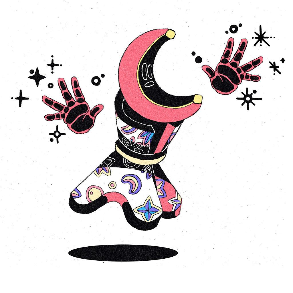 Crescent Moon Wizard