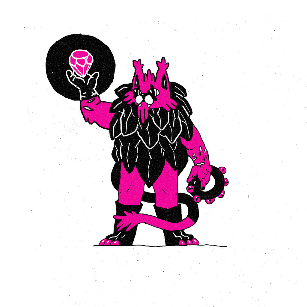 Magenta Cat Wizard