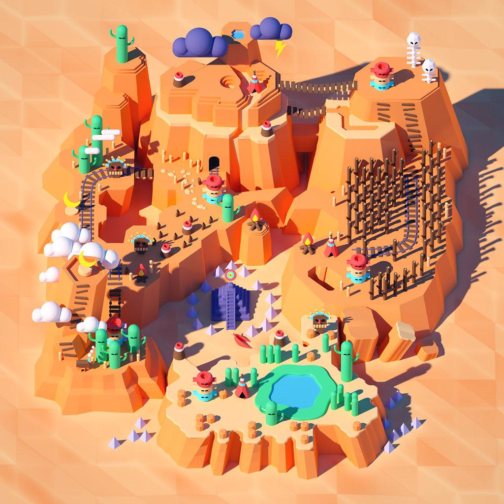 Super Mario World 3D (Wild Desert)